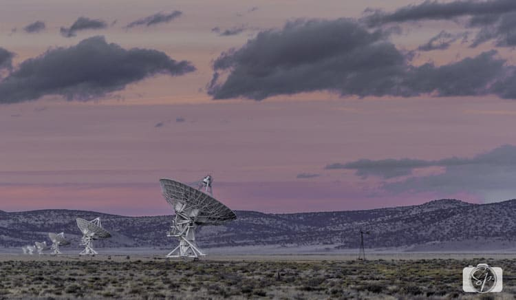 new-mexico-very large array-sunset