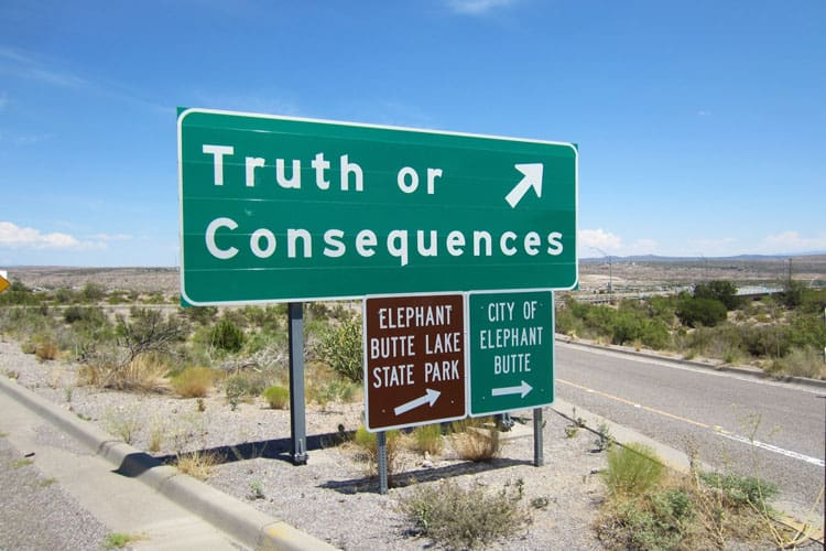 Truth or Consequences NM Sign