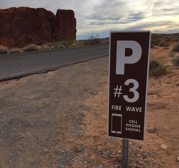 Parking 3 for Fire Wave at Valley of Fire State Park