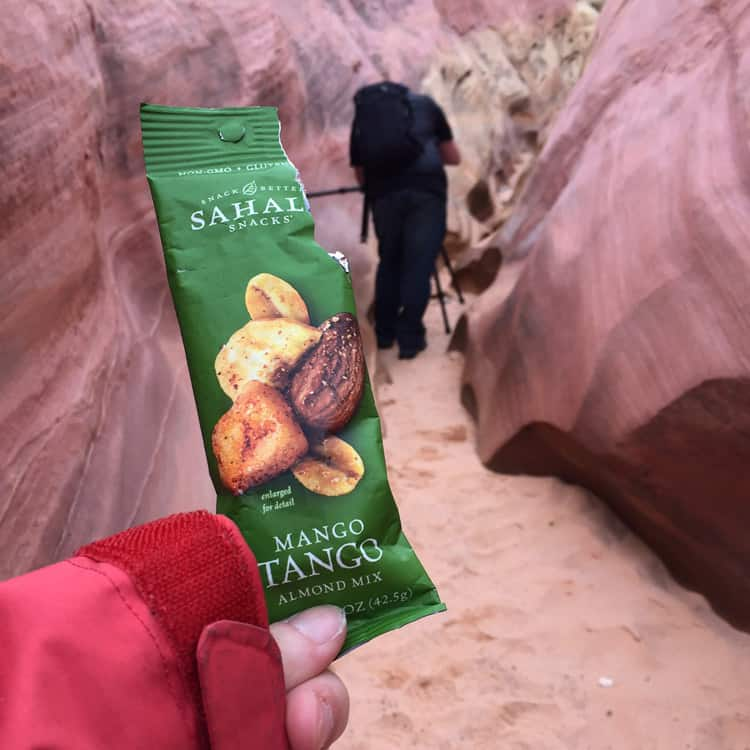 Sahale inspired breakfast in Valley of Fire with Sahale Snacks