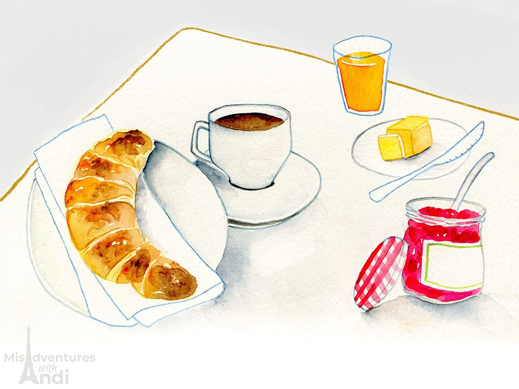 A Typical French Breakfast