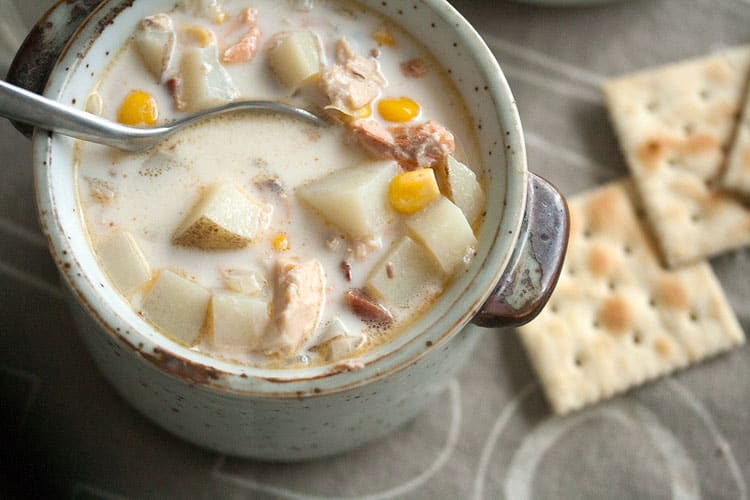 Salmon Chowder by Isabelle Boucher