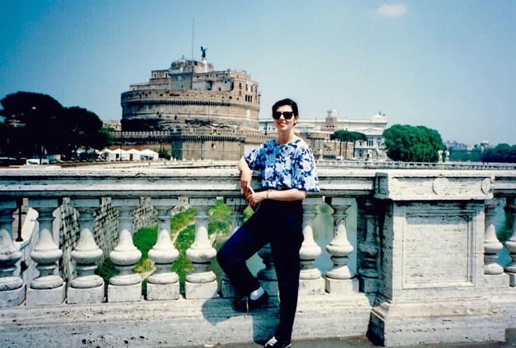 Traveler Tuesday - Marie-France of Big Travel Nut-First_oversea_trip Rome 1992