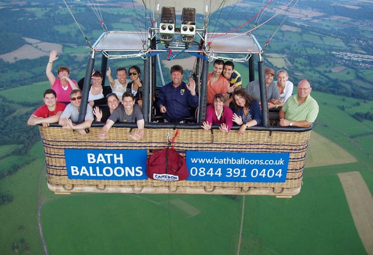 Fantastic Balloon Rides Around the World Hot air balloon ride in Bath