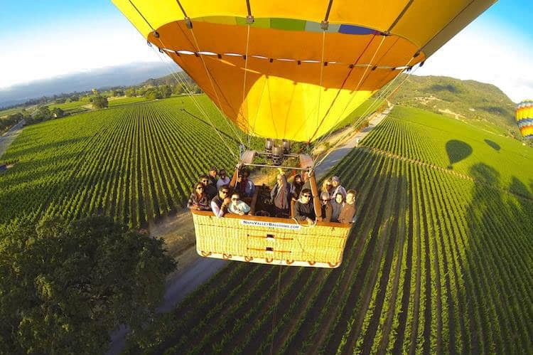 Fantastic Balloon Rides Around the World_Napa Hot Air Balloon Ride