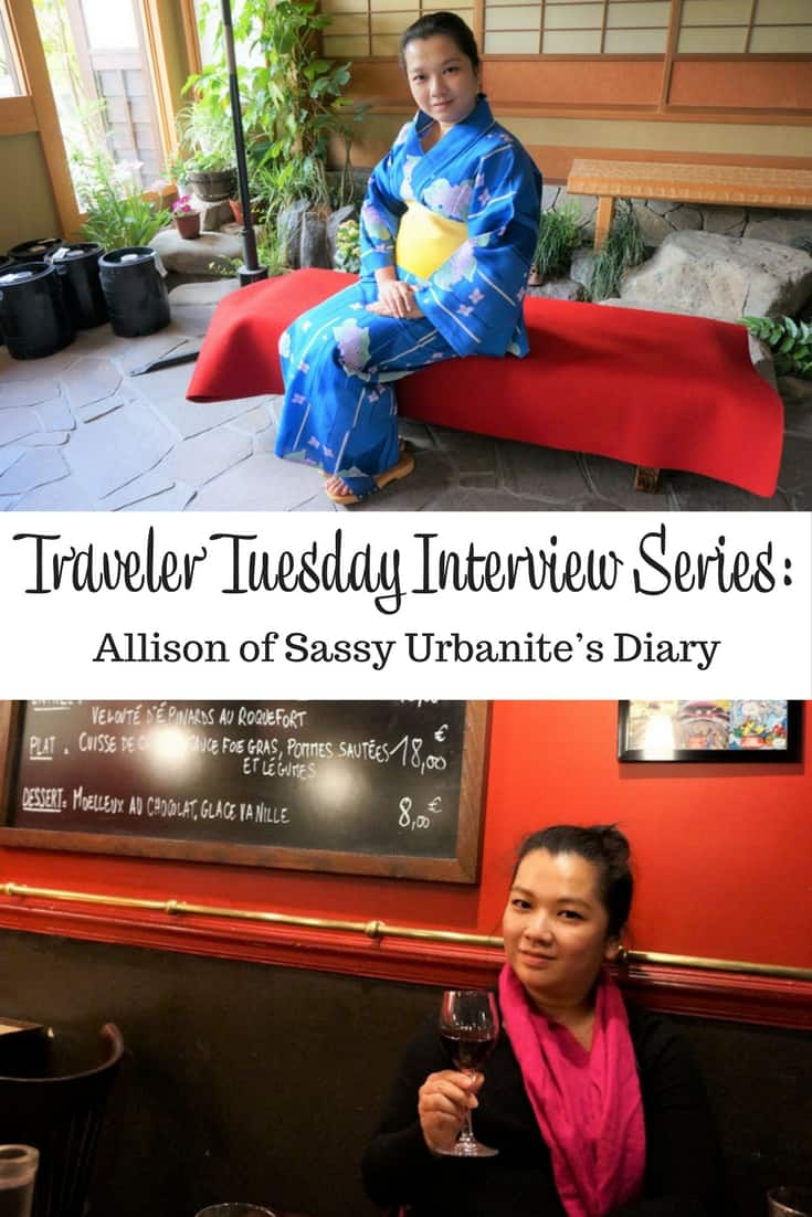 Traveler Tuesday Travel Blogger Interview with Allison of Sassy Urbanite's Diary