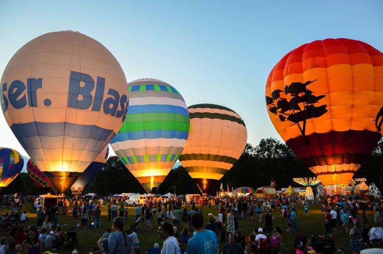 hot air balloon rally new hampshire