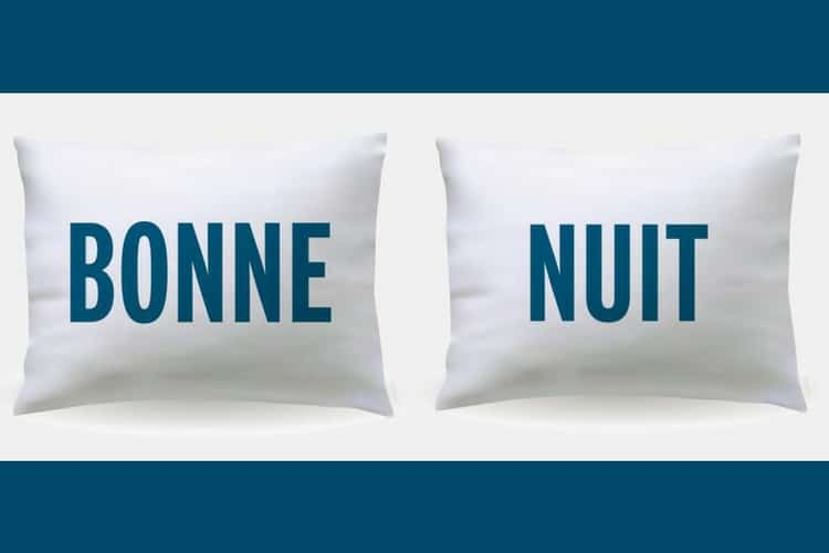 Gift Guide for the Francophile in Your Life - Bonne Nuit Pillows