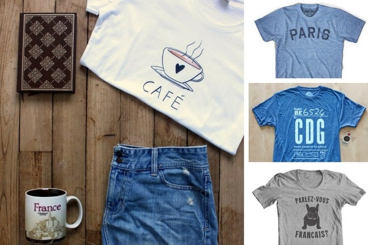 Gift Guide for the Francophile in Your Life - Shirts