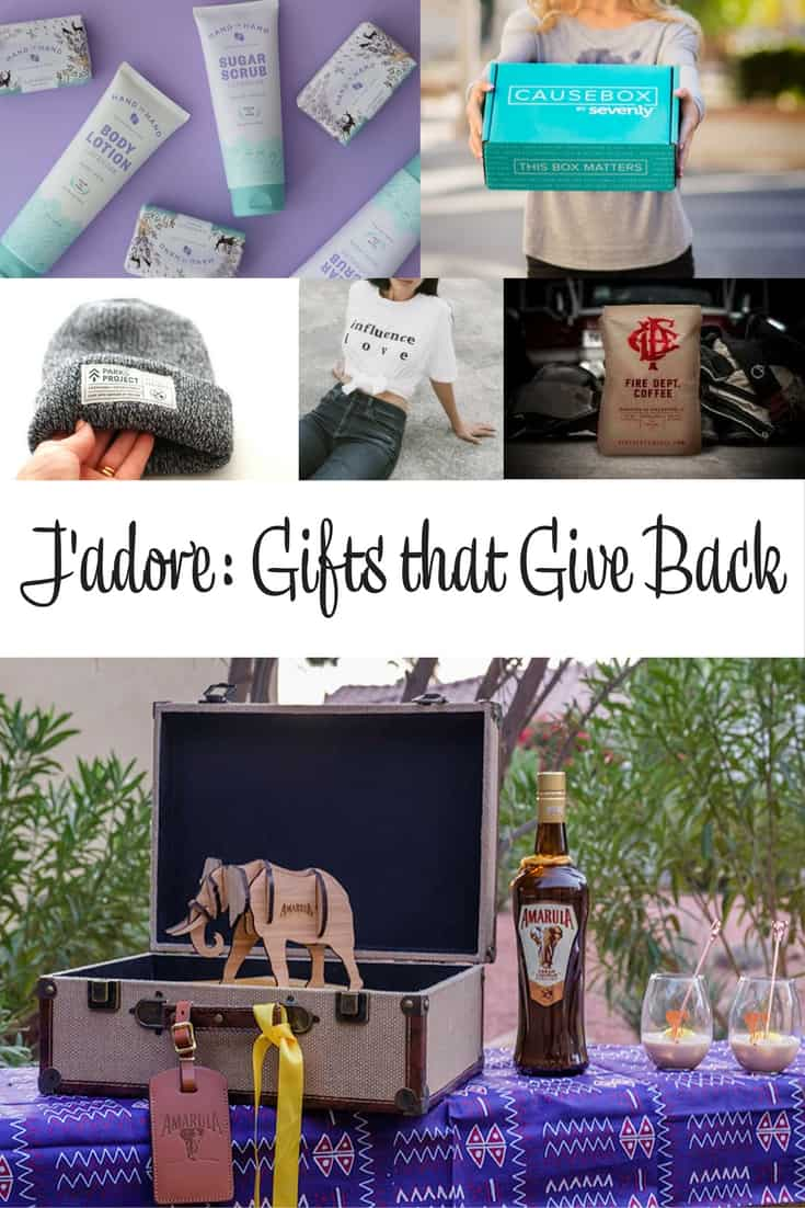 J'adore Gifts that Give Back