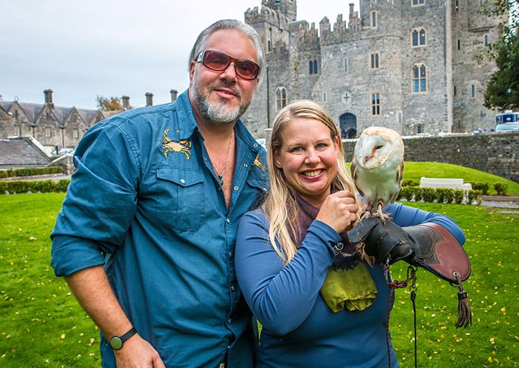Traveler Tuesday – Bret and Mary of Green Global Travel_Kilkea Castle Us & Owl lo res