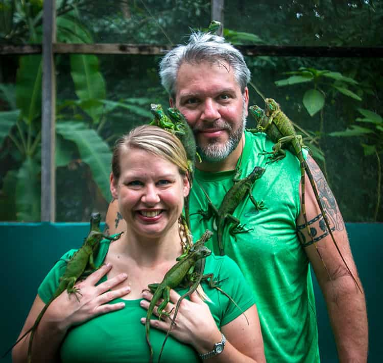 Traveler Tuesday – Bret and Mary of Green Global Travel_iguanas