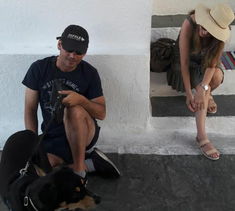 Traveler Tuesday - Chrysoula of Travel Passionate_with my husband and dog