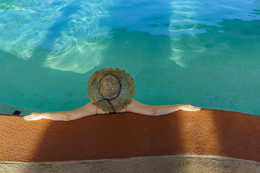 Andi-in Breaux Hat-Swiming Pool_10th Street Hats Breaux