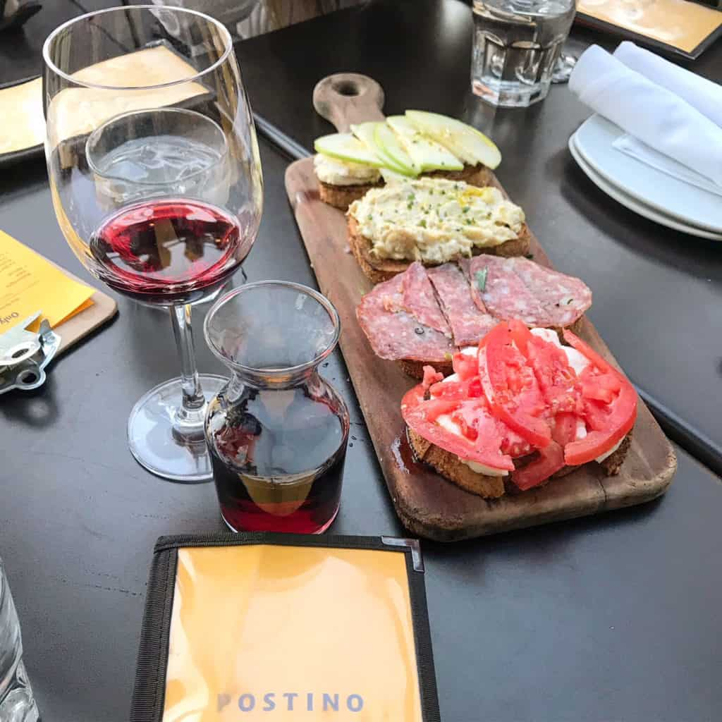 Where to Eat in Phoenix: Postino Restaurant Bruschetta Flight