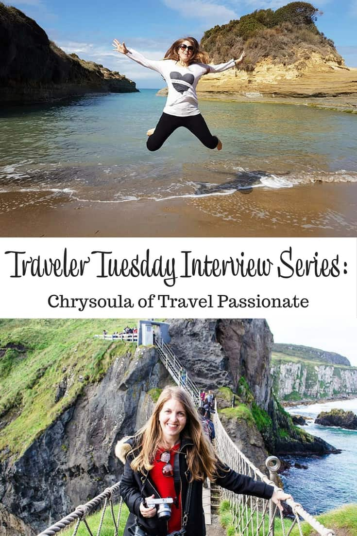 Traveler Tuesday Travel Blogger Interview with Chrysoula of Travel Passionate