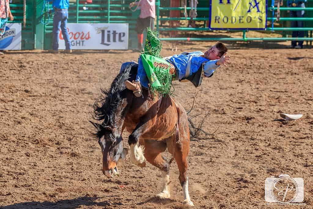 Arizona Rodeo - Wickenburg Rodeo bare horseback
