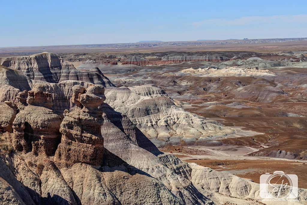 Along the top of the Blue Mesa Trail - Petrified Forest National Park