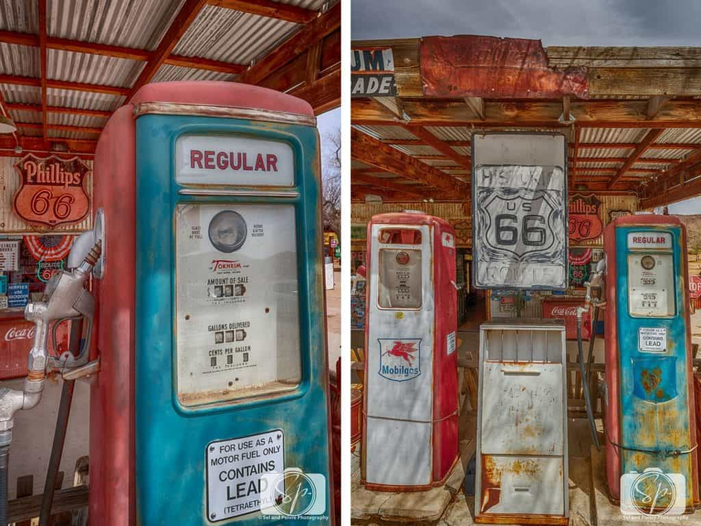 Vintage Route 66 paraphernalia in Hackberry Arizona