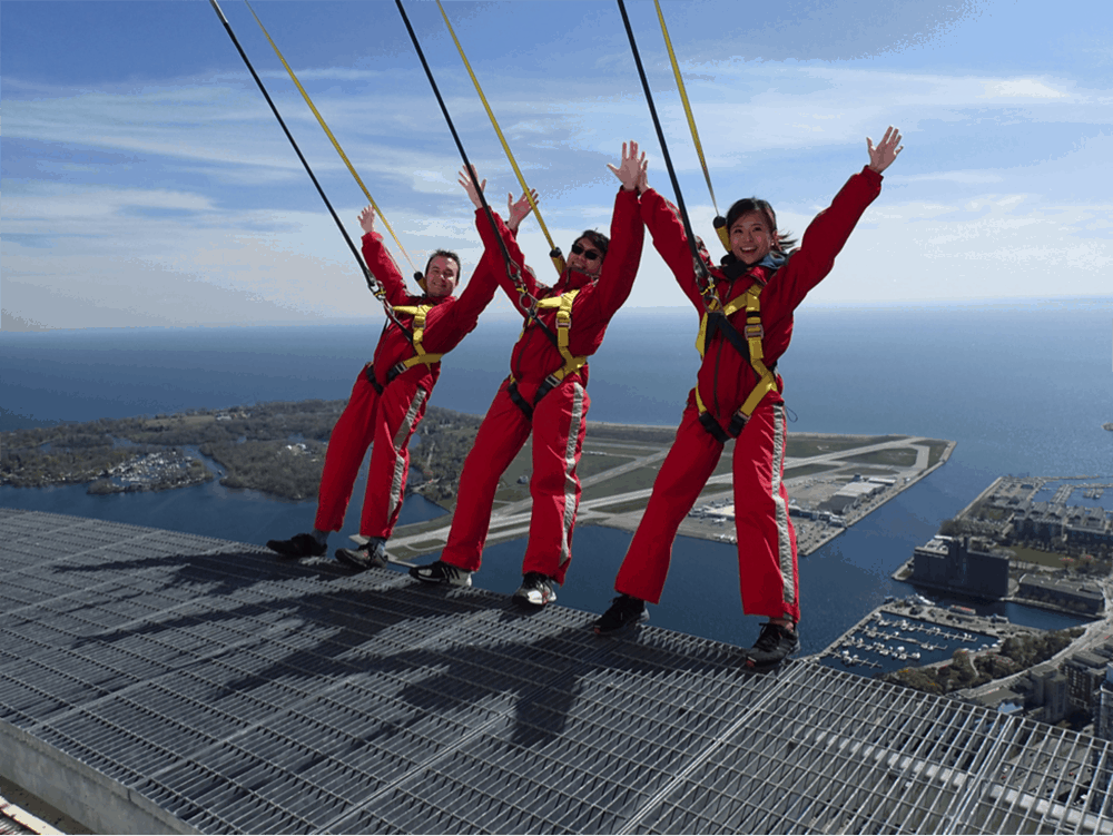 Traveler Tuesday - Cat of For Two Please_CN Tower EdgeWalk, Toronto, Canada