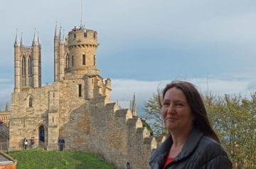 Traveler Tuesday - Karen of World Wide Writer_Karen Warren at Lincoln Castle Featured