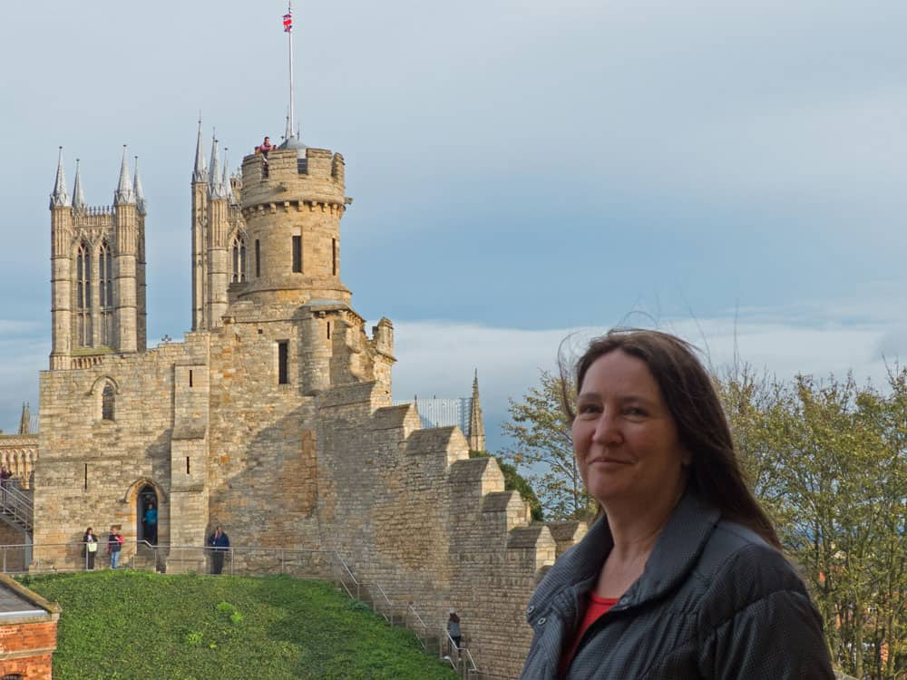 Traveler Tuesday - Karen of World Wide Writer_Karen Warren at Lincoln Castle, UK