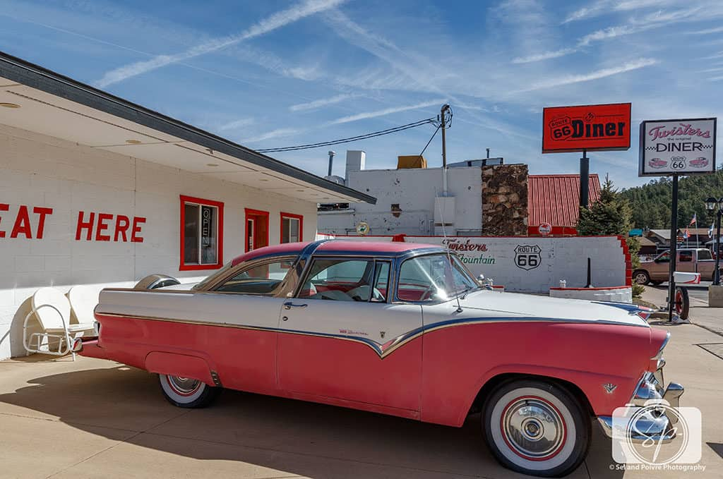 Vintage Car on Route 66 Williams Arizona