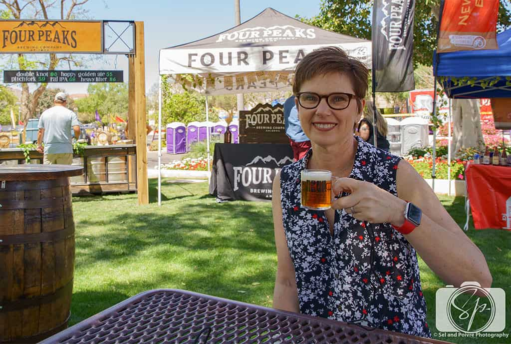 Andi with Four Peaks at the Scottsdale-Culinary Festival