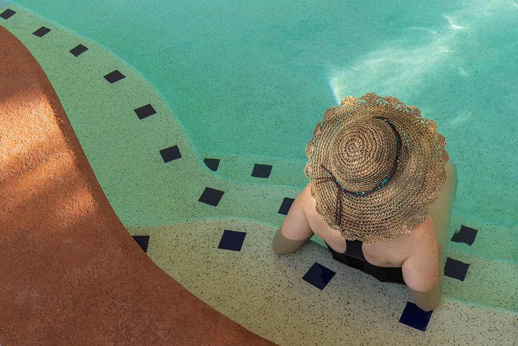 Andi-in Breaux Hat-Swiming Pool_J'adore 77-10th Street Hats Breaux