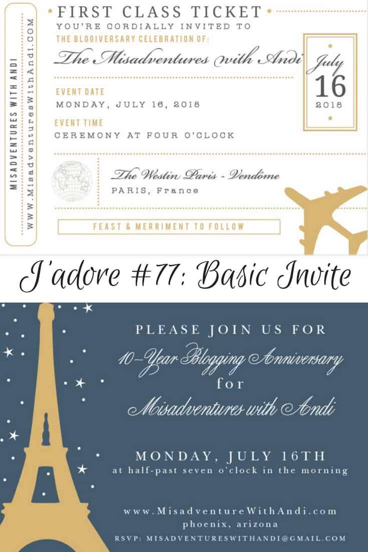 J'adore #77: Basic Invites