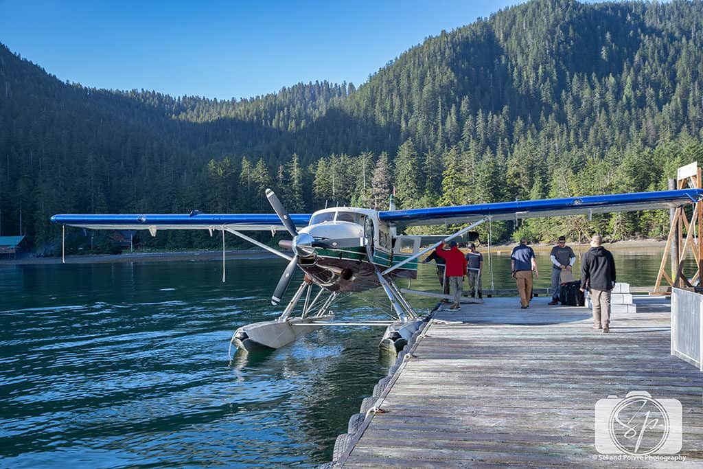 Loading up the Tanguan float plane at the Steamboat Bay dock
