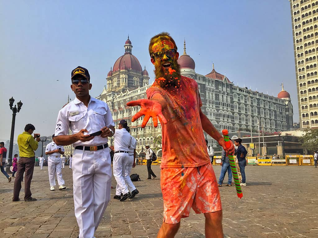 Traveler Tuesday - Jub of Tiki Touring Kiwi at Holi in India