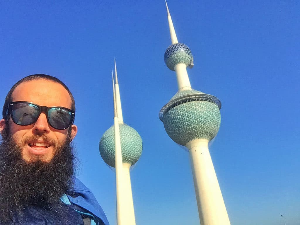 Traveler Tuesday - Jub of Tiki Touring Kiwi at Kuwait Towers