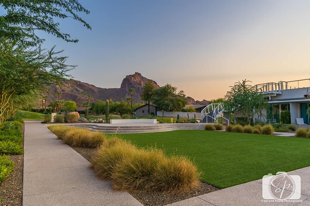 Mountain Shadows-Resort-Lawn at Sunset