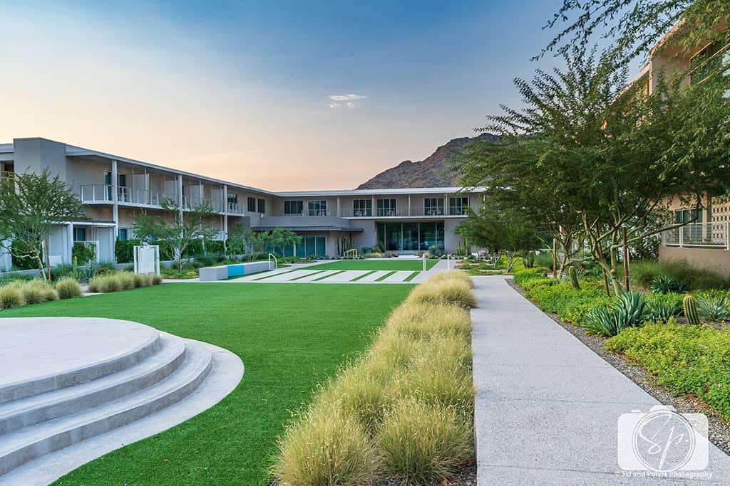 Mountain Shadows-Resort-Lawn at Sunset 4