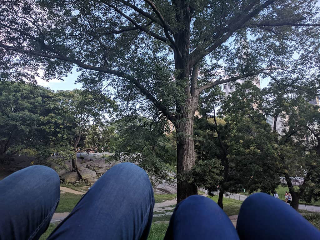 Traveler Tuesday - Ave and Ronnie of Home Life Abroad_Relaxing at Central Park NYC