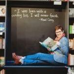 Andi Fisher inside Changing Hands Bookstore hero