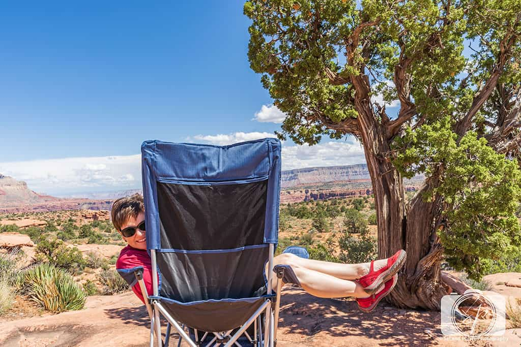 Andi in her Jambu Sunkist Sandals at Toroweap North Rim Grand Canyon