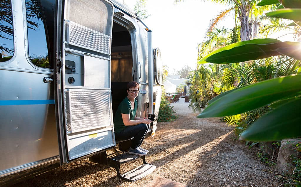 Andi in Airstream RV