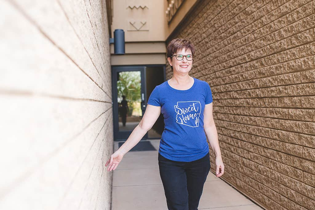 Andi in her Celebrate Your Tribe - Sweet Home Arizona Shirt_SarahHoagPhotography
