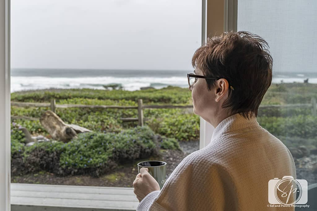 Enjoying the View from my room at the Overleaf Lodge in Yachats Oregon-Coast-Dec-2018-04