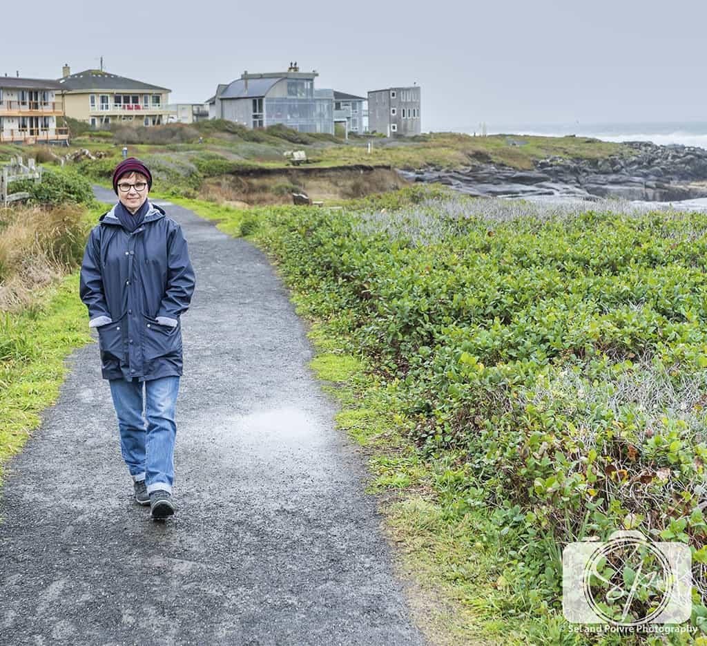 Walking the Coastal Path at Overleaf Lodge in Yachats Oregon