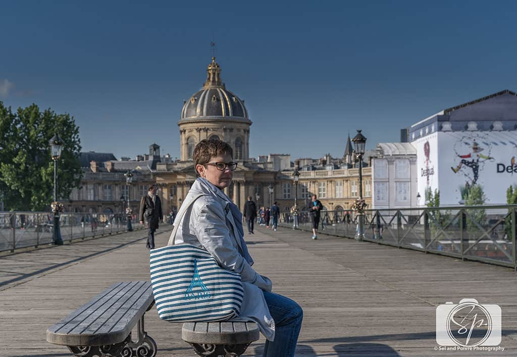 Andi Resting on Paris Bench