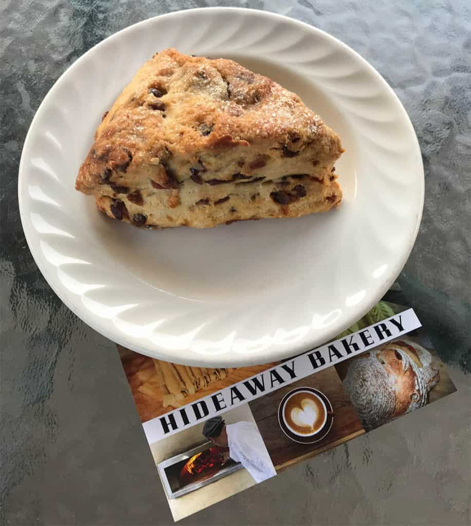 Scone at Hideaway Bakery