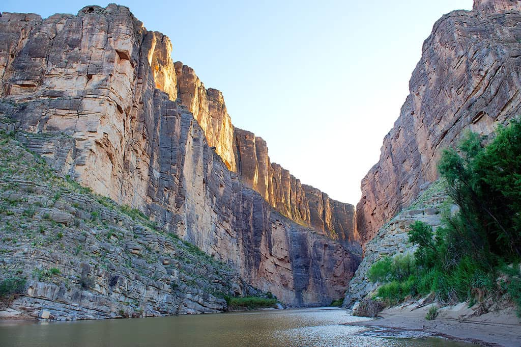 Santa Elena Canyon trail in Big Bend National Park Texas USA