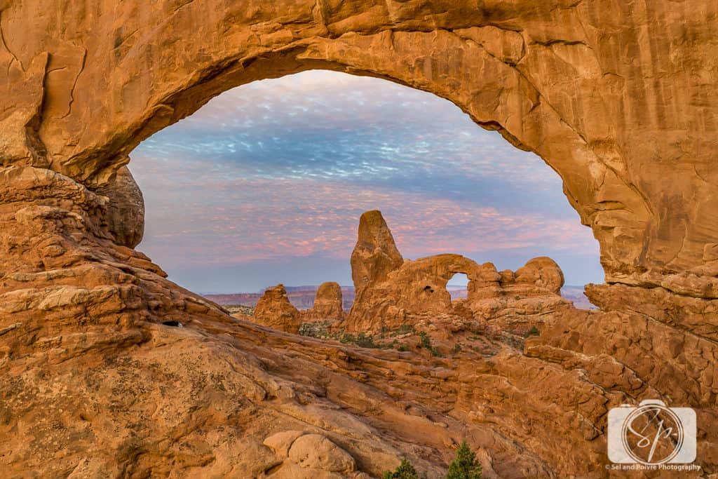 The Windows in Arches National Park Utah USA