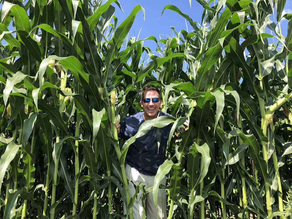 Traveler Tuesday Travel Blogger Interview - Mike of Mike's Road Trip_Mike in a Corn Field