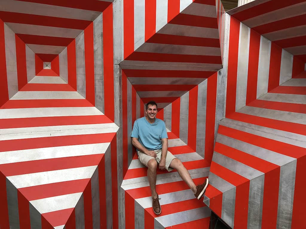 Traveler Tuesday Travel Blogger Interview - Mike of Mike's Road Trip_Mike in Red Art Installation