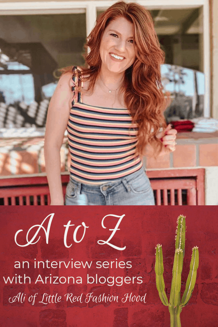A to Z – Ali of Little Red Fashion Hood