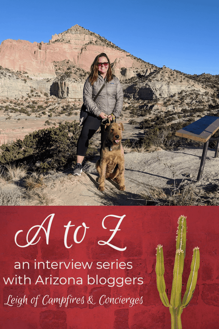A to Z – Leigh of Campfires & Concierges PIN